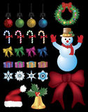 Christmas ornaments set. Stock Images