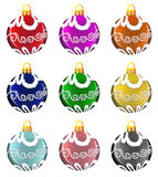 Christmas ornaments set Royalty Free Stock Photography