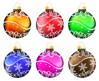 Christmas ornaments set Stock Photos