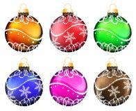 Christmas ornaments set Stock Photos