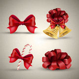Christmas ornaments set Stock Images