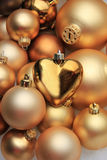 Christmas ornaments: 50 shades of gold Stock Images