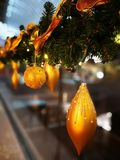 Christmas ornaments. In the shopping center Royalty Free Stock Photography