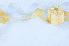 Christmas ornaments on a snow Royalty Free Stock Image