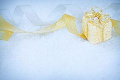 Christmas ornaments on a snow Stock Image