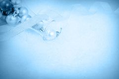 Christmas ornaments on a snow Royalty Free Stock Images