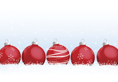 Christmas Ornaments in Snow Royalty Free Stock Photography