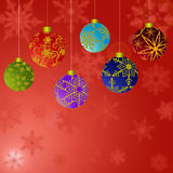 Christmas Ornaments Snowflakes Background 2 Royalty Free Stock Photos
