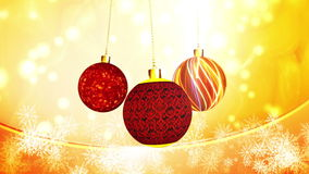 Christmas Ornaments Subtle Motion stock video footage