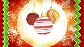 Christmas Ornaments Subtle Motion stock footage