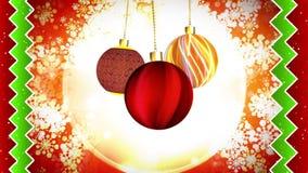 Christmas Ornaments Subtle Motion stock video