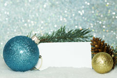 Christmas Ornaments Tag Stock Photography