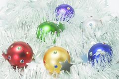 Christmas Ornaments and Tinsel Stock Photos