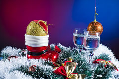 Christmas ornaments and tinsel Royalty Free Stock Images
