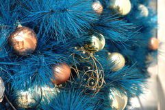 Christmas ornaments on tree Royalty Free Stock Images