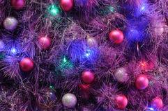 Christmas ornaments on tree Royalty Free Stock Photos