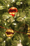 Christmas ornaments on tree Royalty Free Stock Photography