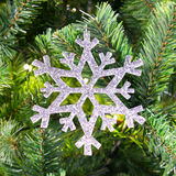 Christmas ornaments. On the Christmas tree royalty free stock images
