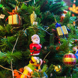 Christmas ornaments. On the Christmas tree Royalty Free Stock Photo