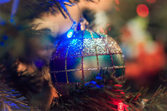 Christmas ornaments. On the Christmas tree Royalty Free Stock Image
