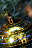 Christmas ornaments on tree. Royalty Free Stock Photos