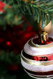 Christmas ornaments on tree. Royalty Free Stock Images