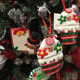 Christmas Ornaments. On a Christmas tree royalty free stock photo
