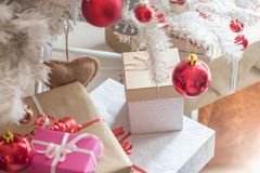 Present boxes for christmas stock images