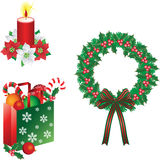 Christmas ornaments vector Stock Image