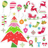 Christmas ornaments vector Royalty Free Stock Photo