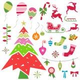 Christmas ornaments vector Royalty Free Stock Photo
