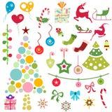Christmas ornaments vector Royalty Free Stock Photos