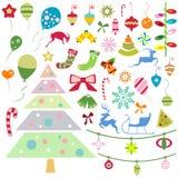 Christmas ornaments vector Stock Image