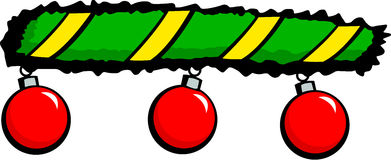 Christmas ornaments vector illustration. Vector illustration of three christmas ornaments Stock Photo