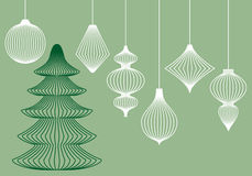 Christmas ornaments, vector set Royalty Free Stock Photography