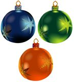 Christmas ornaments vol.3. High detailed vector illustration Royalty Free Stock Images