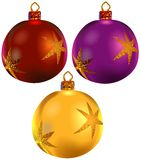 Christmas ornaments vol.4. High detailed vector illustration Stock Image