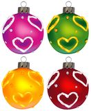 Christmas ornaments vol.8. High detailed vector illustration Stock Photos