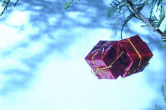 Christmas ornaments w/ white space Stock Image