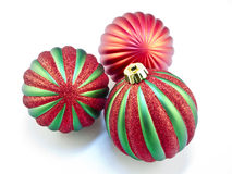 Christmas Ornaments on white Stock Images