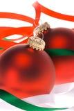christmas ornaments white Στοκ εικόνα με δικαίωμα ελεύθερης χρήσης