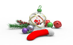 Christmas ornaments. On white background Royalty Free Stock Image
