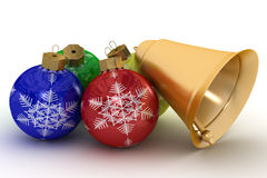 Christmas ornaments on a white background. Royalty Free Stock Photos