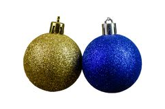Christmas ornaments on a white background, close-up, isolated Christmas Toys royalty free stock images