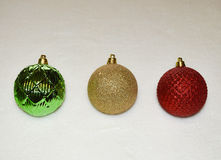 Christmas ornaments with a white background Royalty Free Stock Photo