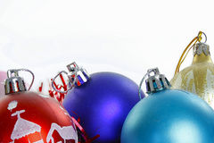Christmas ornaments on the white Stock Image