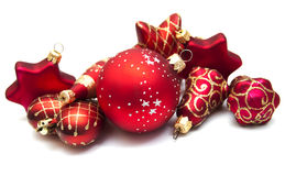 Christmas ornaments on white Royalty Free Stock Photography