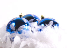 Christmas Ornaments with white space Royalty Free Stock Images