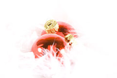 Christmas Ornaments with white space Stock Photos