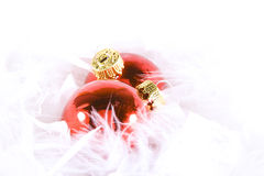 Christmas Ornaments with white space Royalty Free Stock Photos